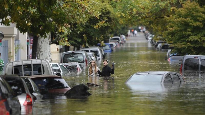 la plata inundada, foto tomada de La izquierda diario