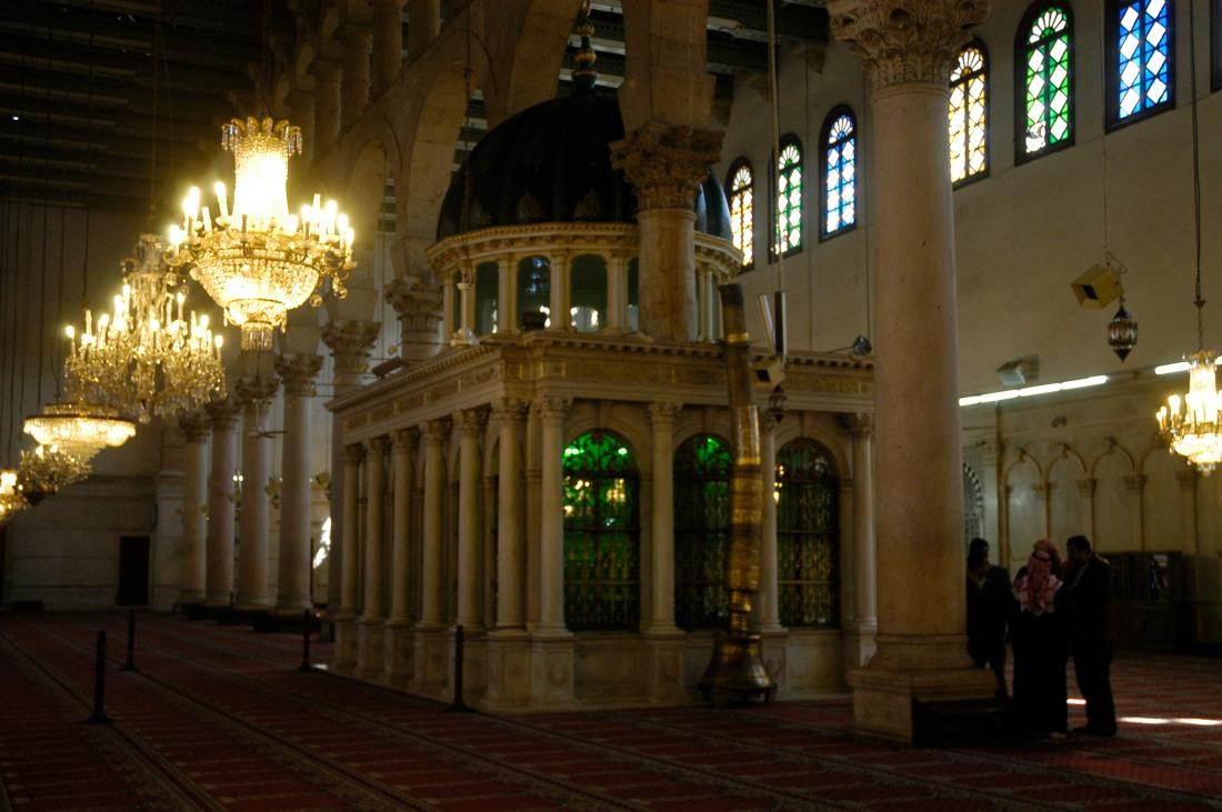 Tumba de Juan Bautista en Mezquita Omeyas